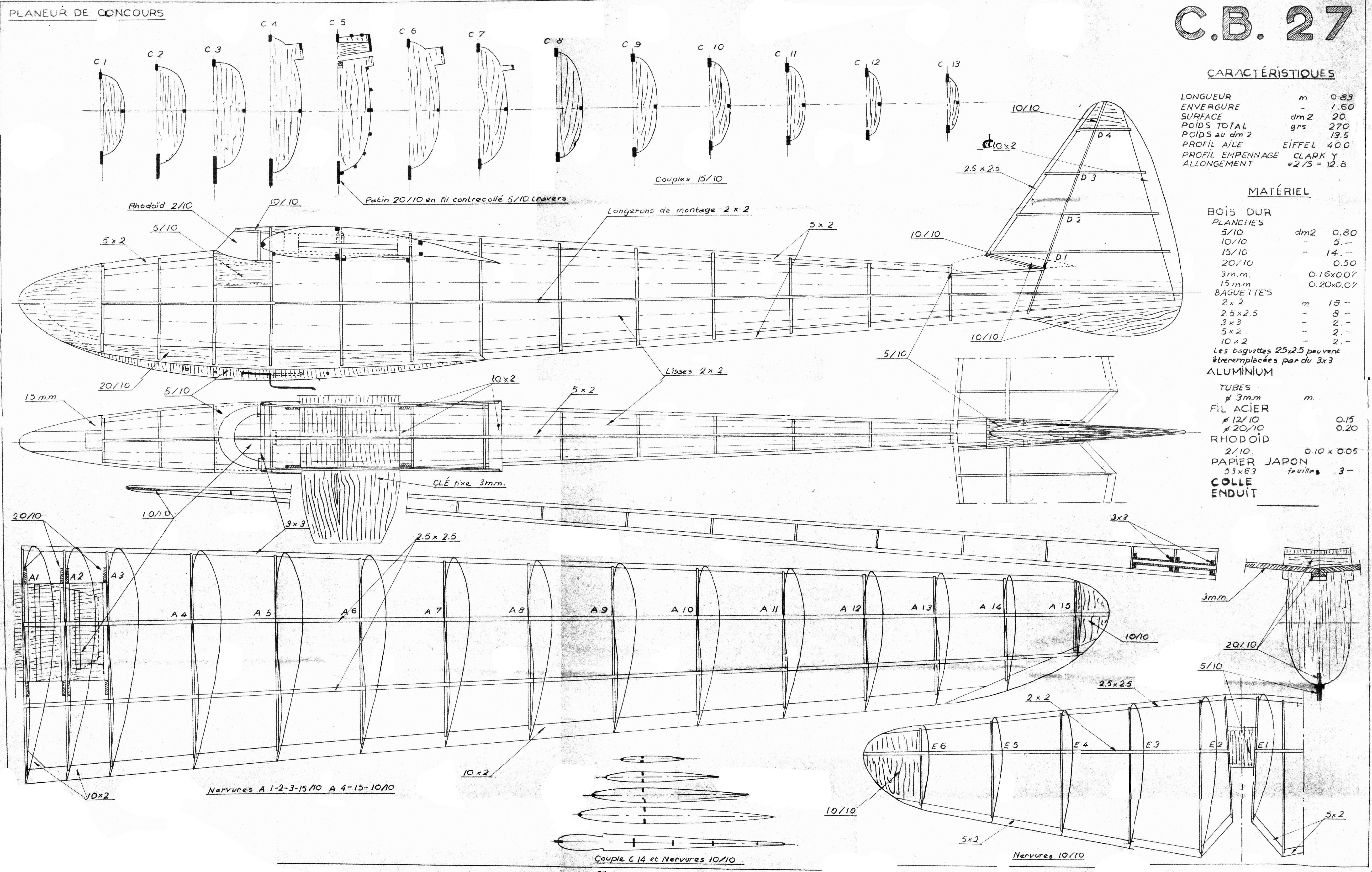 maquette plan eur gratuit 12 plan de peniche 13 plan ~ Plan Maquette Avion Bois Gratuit